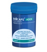 Bicaps ADEK Vitamins A D E K Complex Vegan Food Supplement 60 Capsules