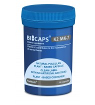 Bicaps K2 MK-7 Vitamins Vegan Food Supplement 60 Capsules